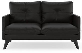 Corrigan Studio Crisler Loveseat Fabric: Ivory, Leg Color: Black