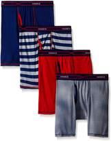 Hanes Toddler Boys' 4-Pack X-Temp Long Legged Dyed Boxer Brief