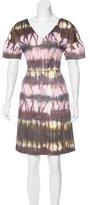 Lela Rose Knee-Length V-Neck Dress