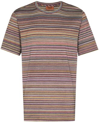 Missoni striped crochet-knit T-shirt