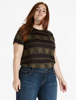 Lucky Brand Metallic Stripe Tee