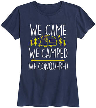 Instant Message Women's Women's Tee Shirts NAVY - Navy 'We Came We Camped' Relaxed-Fit Tee - Women