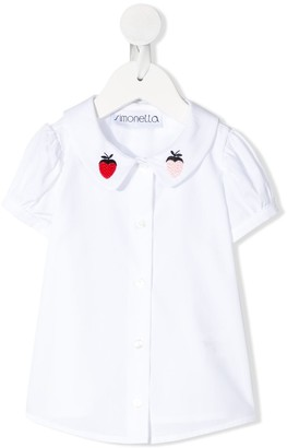 Simonetta Strawberry Embroidered Shirt