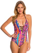 Seafolly Mexican Summer Deep V One Piece Swimsuit 8148642
