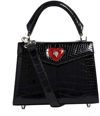 Ethan K Crocodile Alla Top Handle Bag