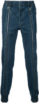 Juun.J zipped leg jeans - men - Cotton/Polyethylene - 50