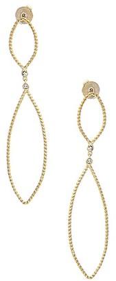 Rivka Friedman 18K Yellow Goldplated Cubic Zirconia Graduated Marquise Drop Earrings