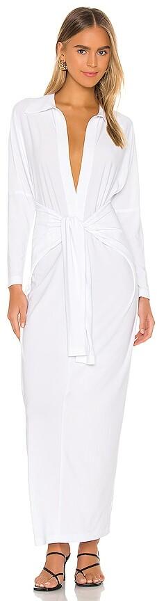 Norma Kamali Tie Front NK Shirt Dress