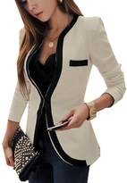 CFD Womens Color Conjoin Formal Career Office Suits Blazer US L