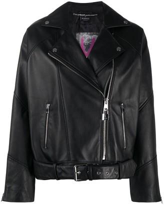 Pinko Onesta off-centre zipped biker jacket