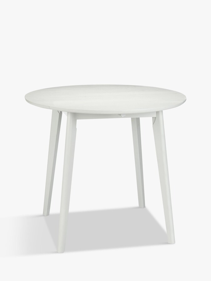 ANYDAY John Lewis & Partners Dillon 4 Seater Drop Leaf Dining Table, Smoke Grey