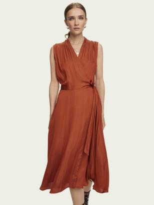 Scotch & Soda Sleeveless midi wrap dress | Women