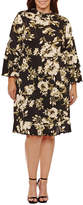S.O.H.O New York Long Sleeve Empire Waist Dress-Plus