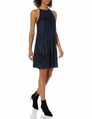 Angie Women's High Neck Beaded Dress