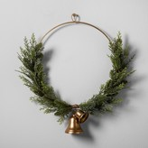 """Hearth & Hand with Magnolia Artificial Juniper Wreath with Bell (16"""")"""