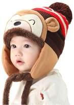 Lowpricenice(TM) Baby Girl Boy Ear Thick Wool Knit Beanie Cute Winter Warm Cap Hat