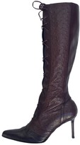 Christian Dior Burgundy Ostrich Boots