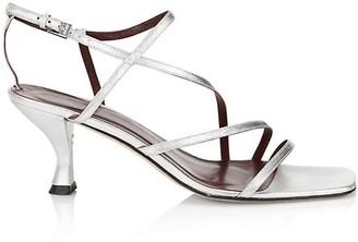 STAUD Gita Metallic Leather Sandals