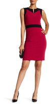 Nine West Two-Tone Sheath Dress