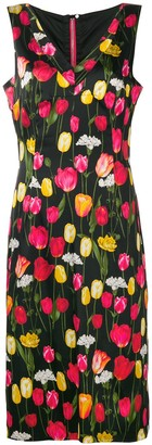 Dolce & Gabbana Pre Owned Floral Print Mid-Length Dress