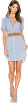 Frame Le Short Sleeve Shirt Dress