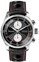 Raidillon Racing Men's Automatic Watch with Black Dial Chronograph Display and Black Leather Strap 42-C10-156