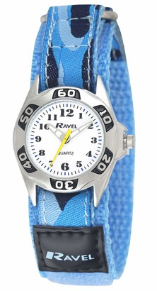 Ravel Children's Camouflage Army Watch with Easy Fasten Action Strap (Blue)