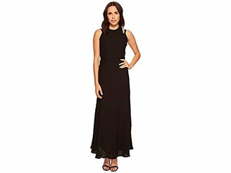 Taylor Dresses Women's Georgette Maxi Sleeveless Dress