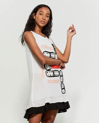 Save the Queen Domino Ruffle Tunic Dress