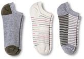 Merona Women's Low-Cut Socks 3-Pack Double Stripe Charming Pink/Healthy Green One Size