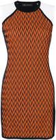 Versace asymmetric knitted dress
