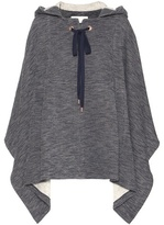See by Chloe Cotton And Wool-blend Poncho