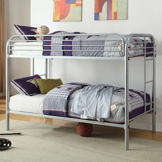 Conte Bunk Bed Zoomie Kids Bed Frame Color: Red, Size: Twin
