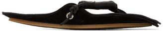 Acne Studios Black Leather Flip-Flop Sandals