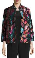 Caroline Rose Vivid Dreams Jacquard Bracelet-Sleeve Jacket, Plus Size