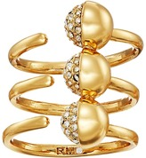 Rebecca Minkoff Triple Pave Ball Ring