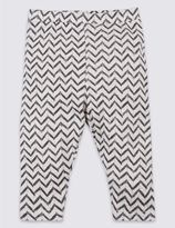 Marks and Spencer Pure Cotton Zig Zag Print Leggings
