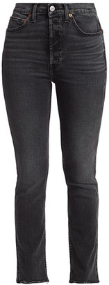 RE/DONE 80s High-Rise Slim Straight Jeans