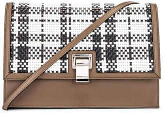 Proenza Schouler Plaid Lunch Bag in Optic White & Black | FWRD