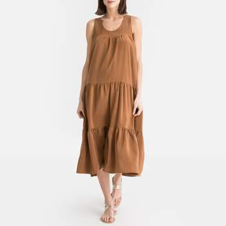 Toupy Silk Loose Fitting Dress