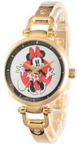 Disney Princess Disney Minnie Mouse Womens Gold Tone Bracelet Watch-W002809