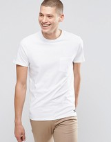 Element One Pocket T-Shirt White In Custom Regular Fit
