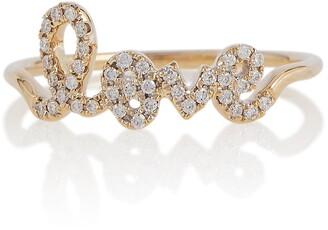 Sydney Evan Love 14kt gold and pave diamond ring