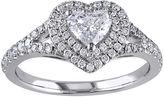 JCPenney MODERN BRIDE 1 CT. T.W. Diamond 14K White Gold Heart Ring