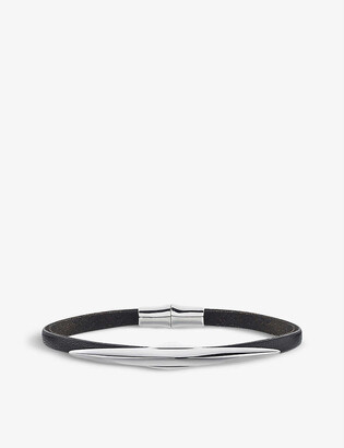 Shaun Leane Arc sterling silver and leather bracelet