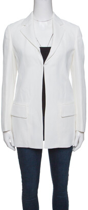 Roberto Cavalli Firenze Off White Tailored Blazer S