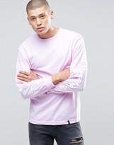 HUF Long Sleeve T-Shirt With Worldwide Sleeve Print