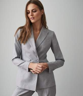 Reiss ESSIE JACKET DOUBLE BREASTED BLAZER Light Blue