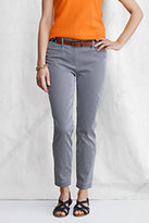Lands' End Women's Pincord Ankle Pants-Soft Pewter Metallic