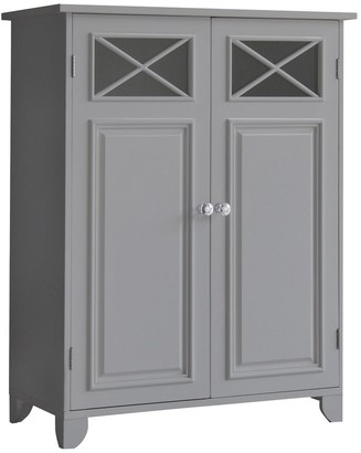 Elegant Home Fashions Dawson Floor Cabinet With 2 Doors with Grey Finish